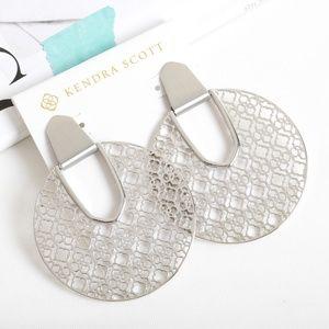 Kendra Scott Diane Silver Earrings Silver Filigree